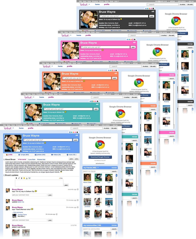 Personalize as cores de seu Orkut.