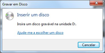 Insira o disco no drive de CD/DVD.