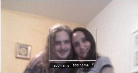 Reconhecimento de rosto aplicado a uma foto.