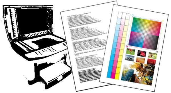 Imagens usadas no teste de digitalização