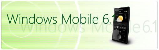 Equipado com Windows Mobile 6.1