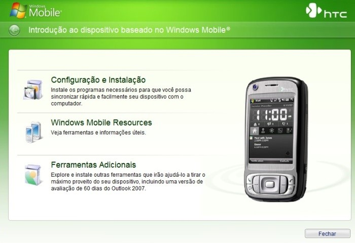 Conteúdo do CD Windows Mobile