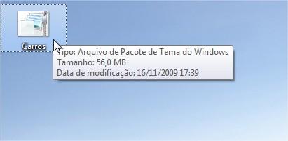 Use o tema em qualquer computador com o Windows 7.