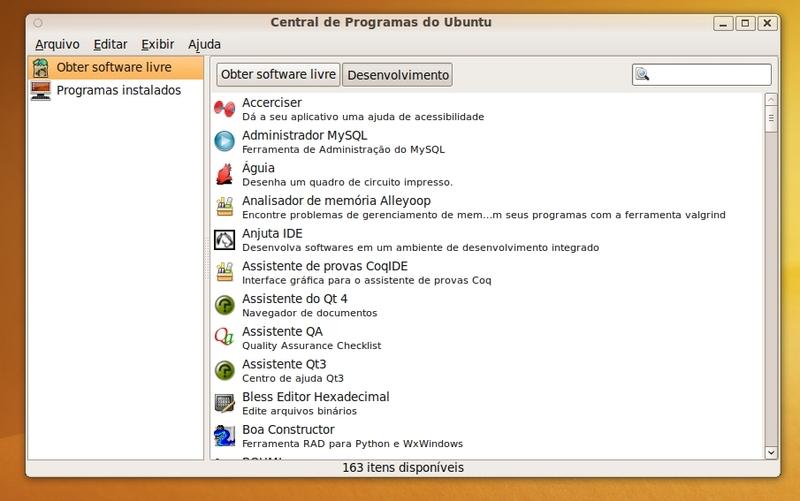 Central de Programas do Ubuntu.