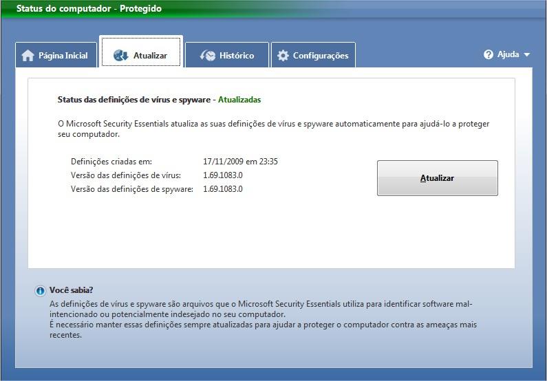 Atualize seu antivirus!