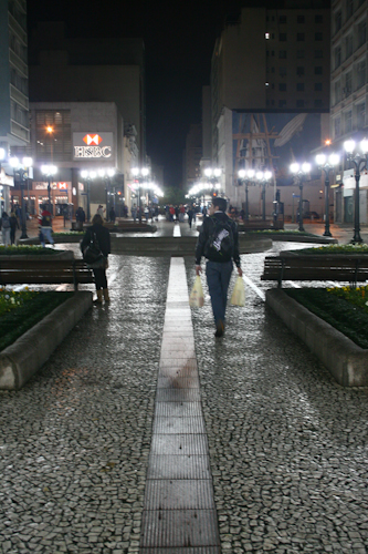 Calçadão da rua XV de Novembro, Curitiba.