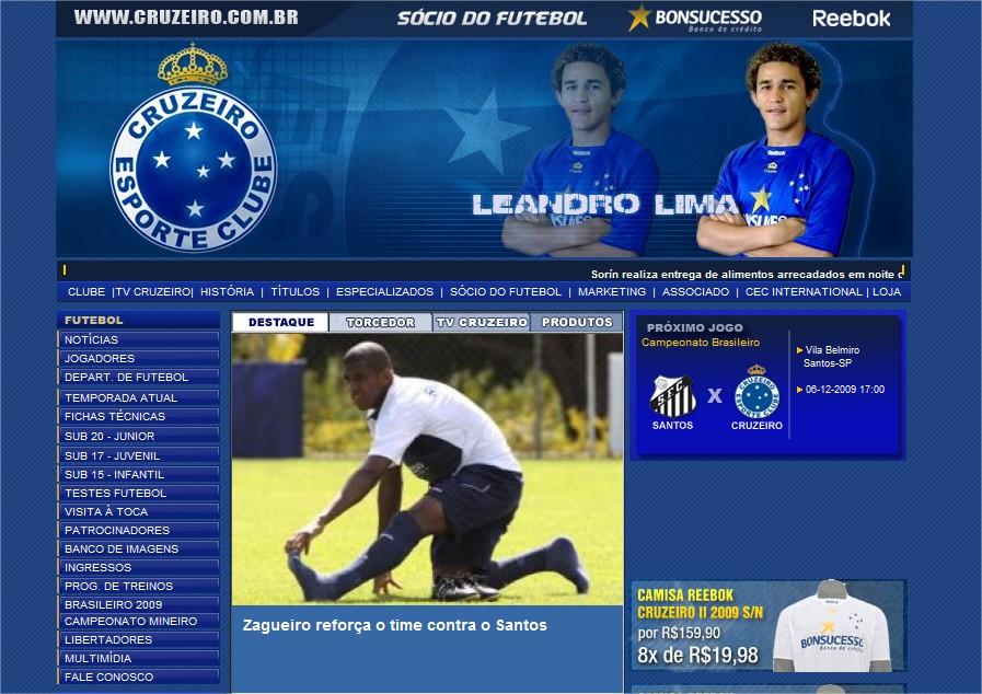 Site oficial do Cruzeiro Esporte Clube