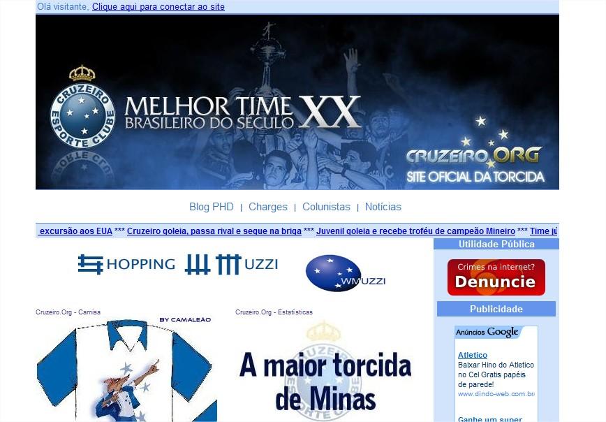 Site oficial da torcida do Cruzeiro Esporte Clube