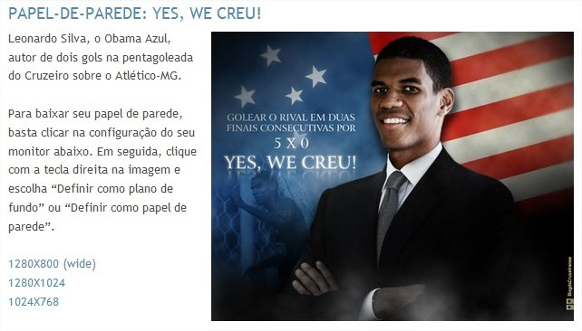 Wallpaper Yes, we creu! - Blog do Cruzeirense