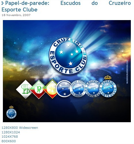 Wallpaper Escudos do Cruzeiro - Blog do Cruzeirense