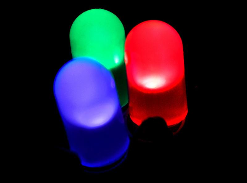 Luzes coloridas de LED