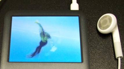 Vídeos no iPod com muita qualidade.