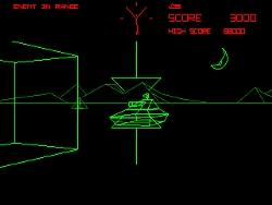 O Battlezone, considerado o primeiro jogo FPS.