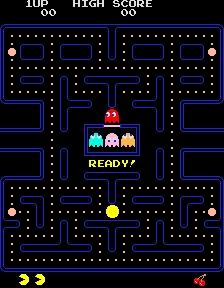 O Pac-Man, personagem simpático e para toda a família.