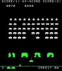 O Space Invaders, que faz sucesso até hoje.