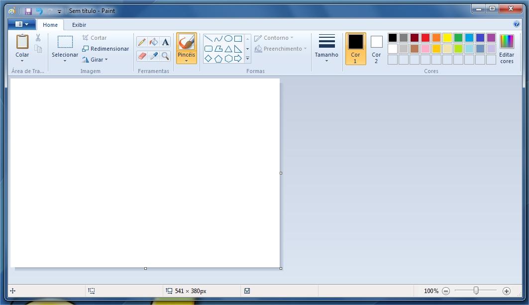 Nova interface do Paint.