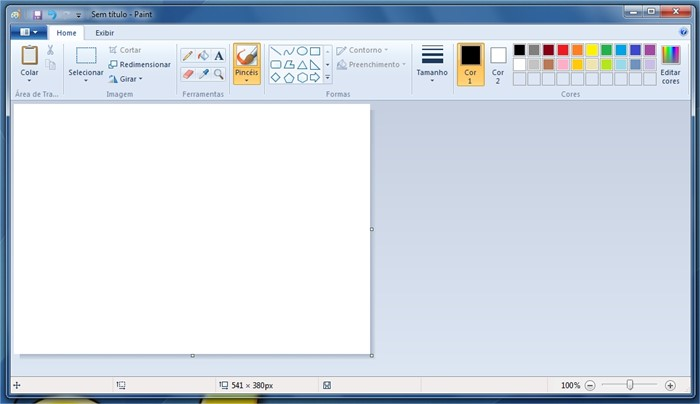 Nova interface do Paint.