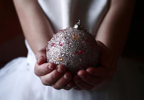 Enfeite de natal - por D Sharon Pruitt