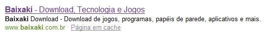 Resultado Bing