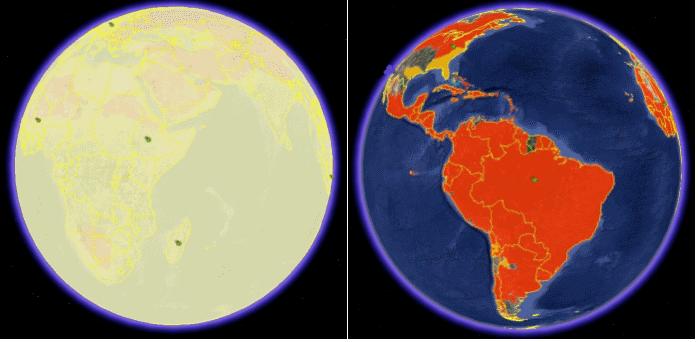 A Terra em chamas