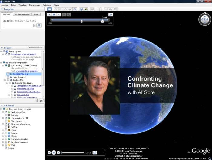 Al Gore, Google e você contra o aquecimento global