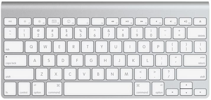 O teclado de um Mac é bastante diferente!