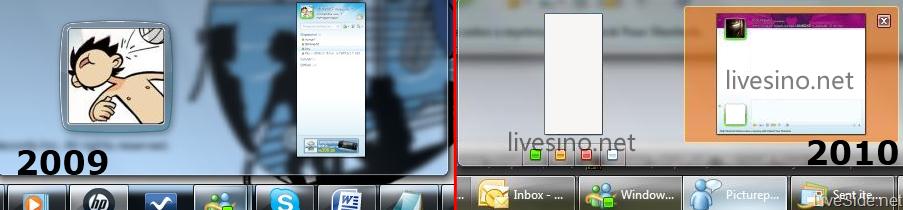 Comparação entre as superbars do Windows 7