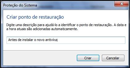 [Tutorial]Criando um ponto de restauração no Windows 7 68553