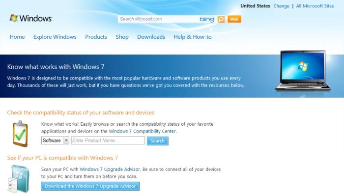 Este site da Microsoft vai ajudar os usuários na adaptação ao Windows 7.