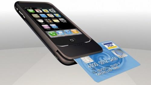 Cartão de crédito no iPhone.
