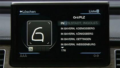 Sistema que reconhece escrita à mão na tela touchscreen.