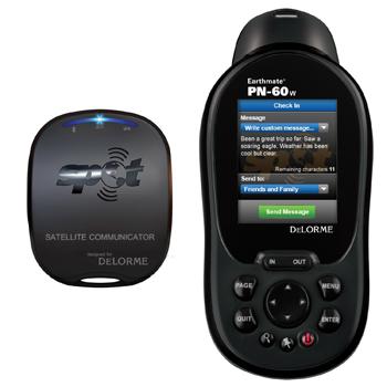 Visual do GPS portátil que permite ao usuário tuitar.