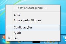 Personalize o menu.