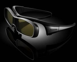 Óculos 3D que acompanha o produto. Foto: Panasonic/Divulgação.