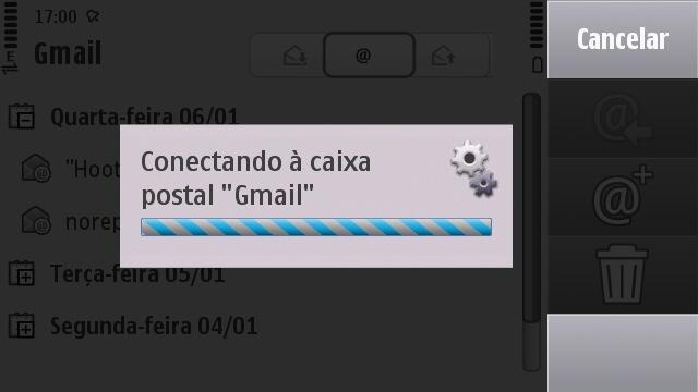 Conectando à caixa postal