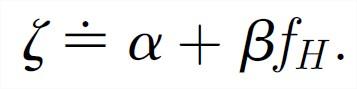 Fórmula da  eficiência metabólica do gene.
