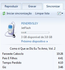 Sincronizando com o MP3