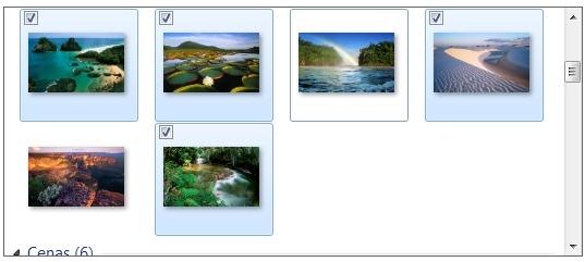 Escolha as imagens.