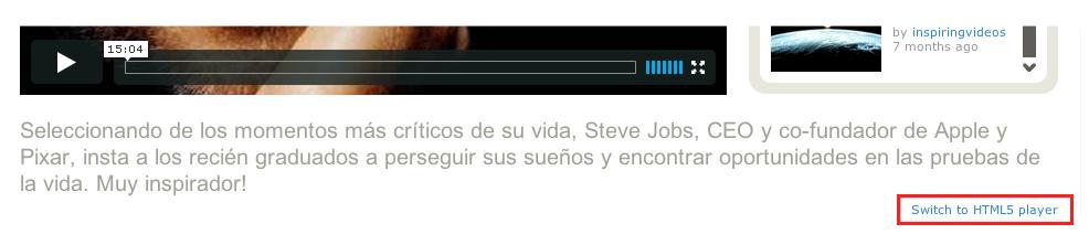 HTML5 e Vimeo