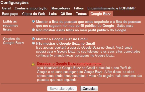 Cancele o Buzz