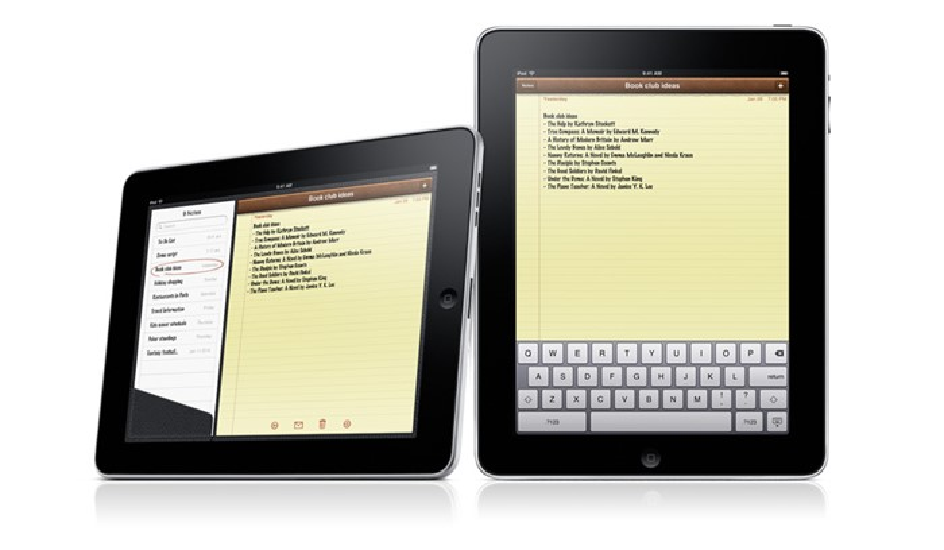 Contatos e teclado do iPad