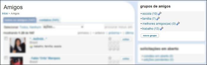 Adicione grupos no Orkut