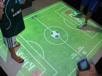 Campo interativo com   sensor de presença