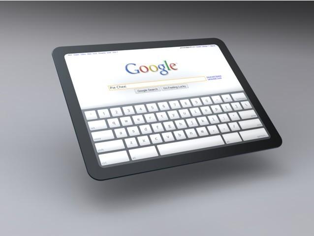 Pesquisa Google no tablet