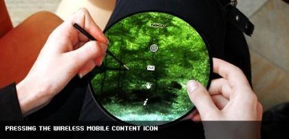 Ilustração do  dispositivo flexível da Nokia