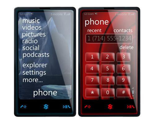 Única imagem do ZunePhone - provavelmente não oficial - rodando a web