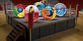 Google Chrome, Opera, Internet Explorer 8, Mozilla Firefox e Safari.