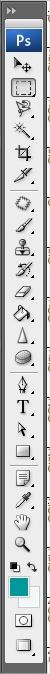 A disposição da   barra de ferramentas do Photoshop é bem diferente!