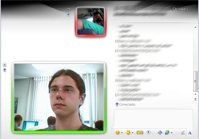 Teste da Webcam Magnética Goldship com o Windows Live Messenger.
