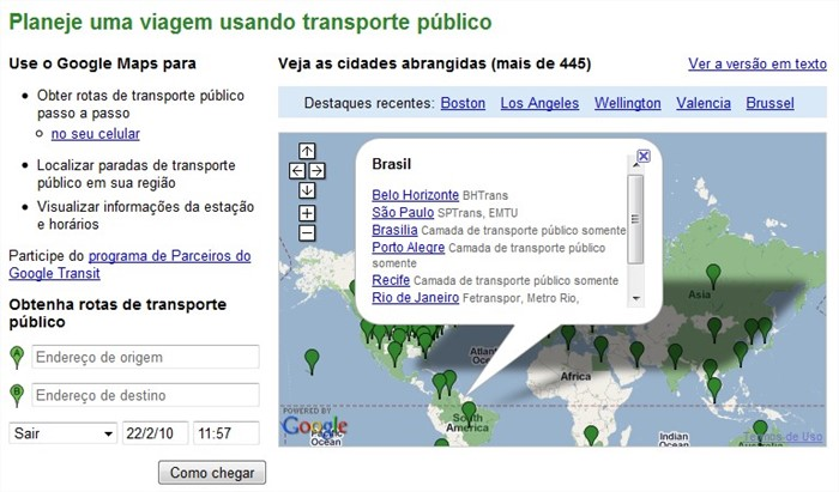 Vá de ônibus, o Google Transit ajuda!